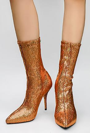 BEVA - SEQUINS SOCK BOOTS