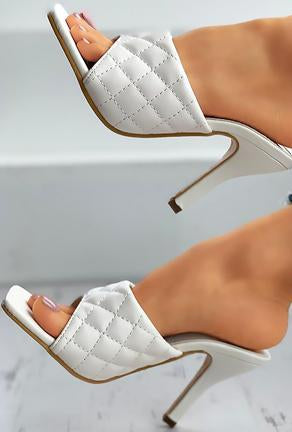 BRIE - QUILTED MULE SANDALS