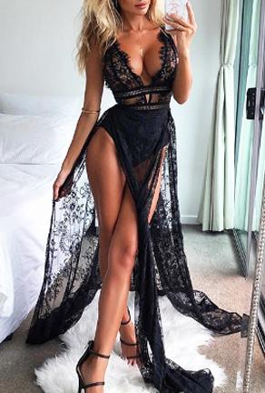EMMY - MAXI LINGERIE DRESS