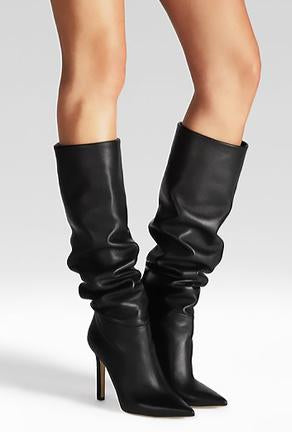 FLORENCE - SLOUCHY KNEE BOOTS