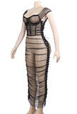 FRANCIS - SHEER RUCHED DRESS