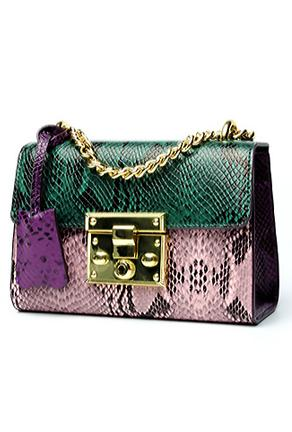 FREYA - COLORFUL PYTHON BAG