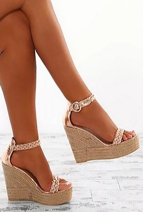 GABE - BRAIDED WEDGE SANDAL