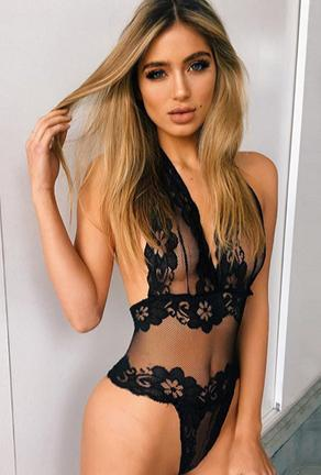 HAZEL - LACE 1 PIECE TEDDY