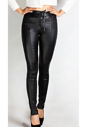 HUNTER - LEATHER LOOK JEANS