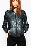 JIKA-SEQUIN BOMBER JACKET