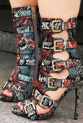 JUNO - BELTED PYTHON BOOTS