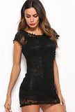 KERRY - MESH LACE DRESS