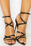 LORI - POINTY STRAP-UP SANDALS