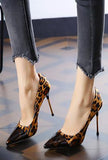 LUCEE - CAP TOE LEOPARD PUMPS