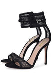MUNECA - LACE ANKLE SANDALS