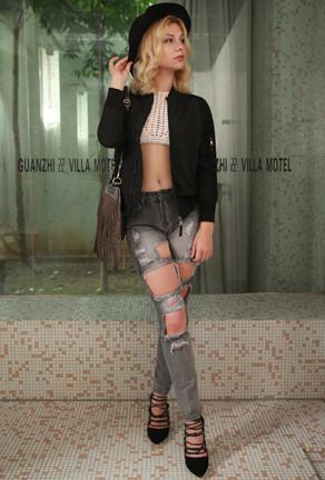 NAOMI - DISTRESSED SLIM JEANS