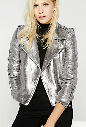 PAMELA - METALLIC MOTOR JACKET