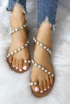 PEARL - PEARL STUDS SLIPPERS