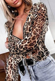 TARA - SHEER LEOPARD PRINT TOP