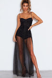 TENNY - SPARKLING SHEER DRESS