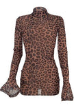 TYRA - SHEER LEOPARD PRINT DRESS