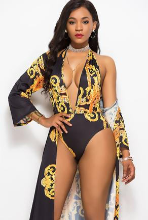 VASSAR - SWIM & ROBE SET