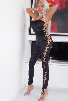 YVONNE - LACE UP BODYSUIT
