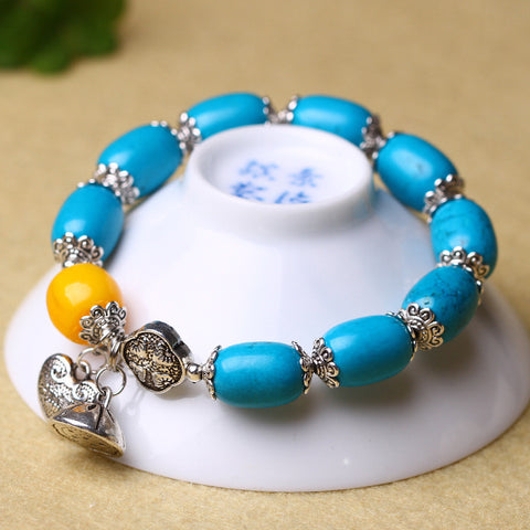 Natural turquoise bead DIY fashion Korean crystal bracelet Taobao selling original jewelry wholesale direct sales