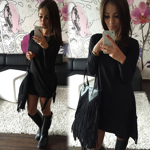 2016 Autumn Long Sleeve Women Sexy Dress New Fashion Cotton Robe Elegant Bodycon Bandage Dresses F067 F068 - Selenekiss