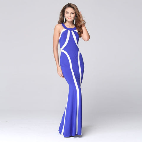 2016 New Arrival Women Sexy Halter Backless Strap Long Dress Ladies Elegant Formal Party Gowns Prom Ball Slim Dresses L857 - Selenekiss