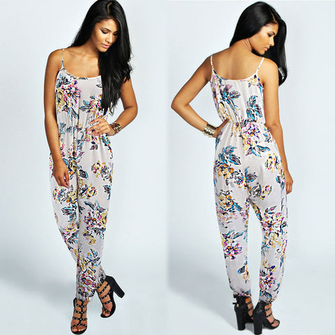 new jumpsuit trousers new foreign trade foreign trade original chiffon Ms. casual pants - selenekiss - 1
