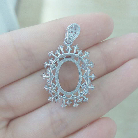 Dongxing jewelry 925 silver pendant empty set hot snowflake models the main stone specifications: 10X14 - Selenekiss