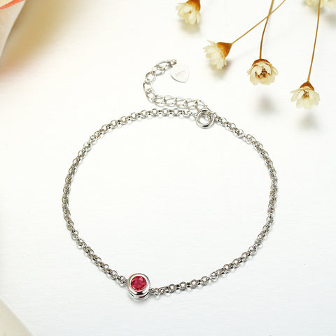 925 sterling silver bracelet inlaid natural colored gemstone ornaments wangfu tourmaline plated platinum rose gold jewelry