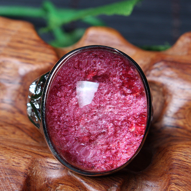 Natural Red Ghost Ring Lucky Nafu Transit Boutique Jewelry Fashion Korean Men and women look beautiful ring