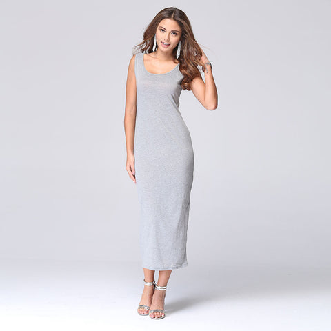 2016 summer new European and American Slim solid color stretch dress package hip dress - Selenekiss