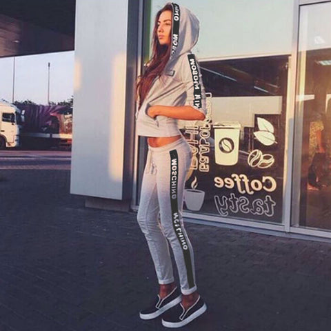 2016 new women's casual track suit foreign trade in Europe and America big yards fashion leisure suit soprt - Selenekiss