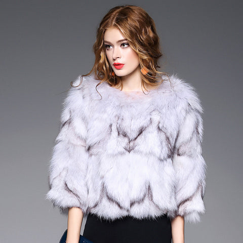 Short clothes Fox Legs fur coat fashion faux fur from selenekiss