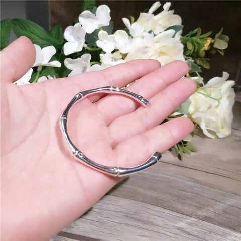 New bamboo bracelet 925 sterling silver summer small fresh trendy silver jewelry Japan and South Korea Europe and the United States wind factory direct