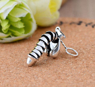925 sterling silver jewelry male organ can move big bird charm silver pendant male pendant 033184w - Selenekiss