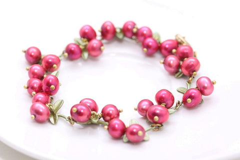 Cranberry Bracelet Necklace Independent Designer Works European and American foreign trade jewelry wholesale - Selenekiss