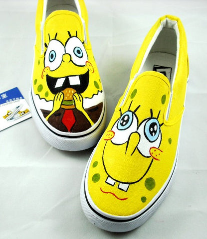 women's personalized hand-painted comfortable shoes-Yellow - selenekiss