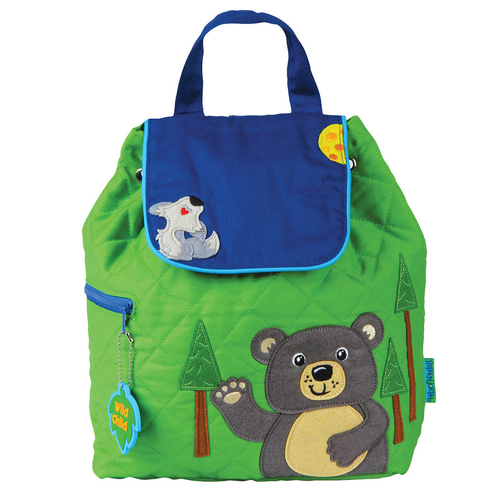 Stephen Joseph Quilted Backpack Bear – Bizzy