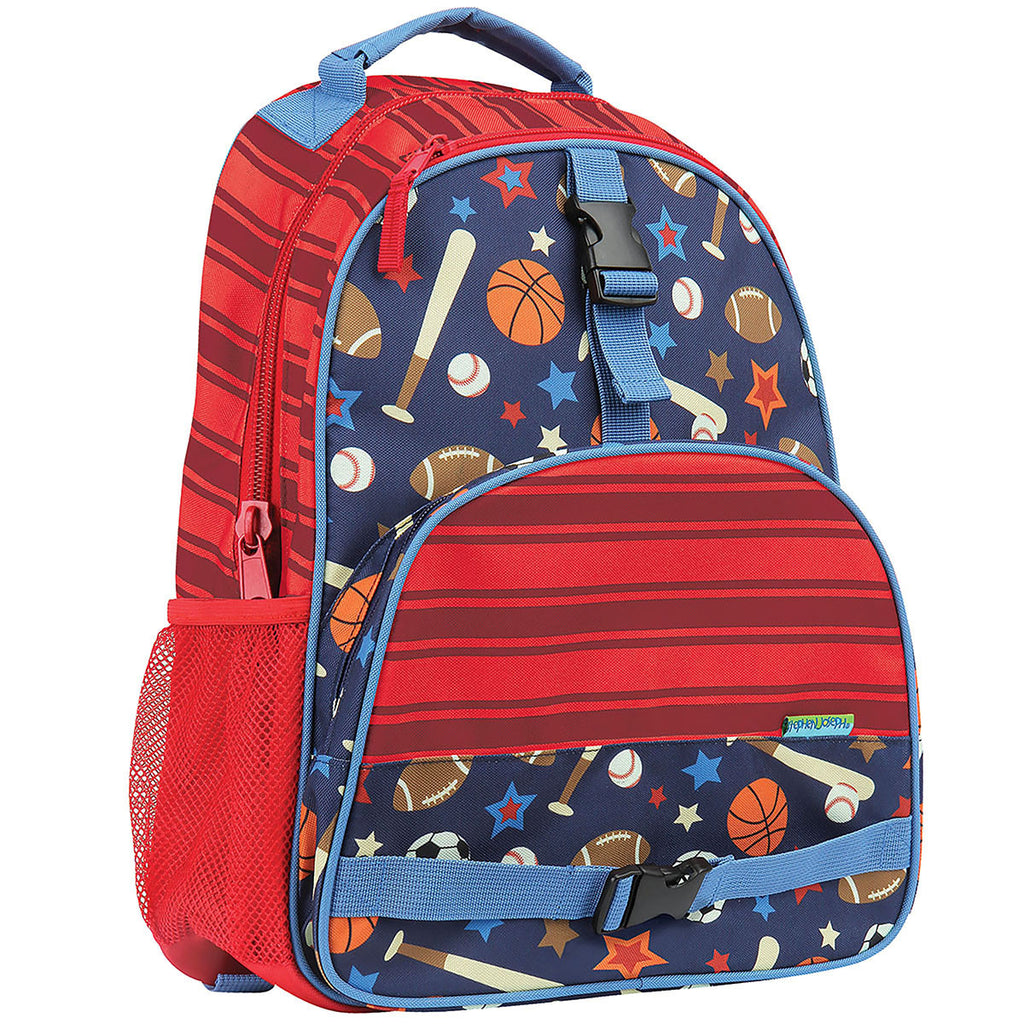 a22b587305 Stephen Joseph All Over Print Backpack Sports – Bizzy Bee Quilts