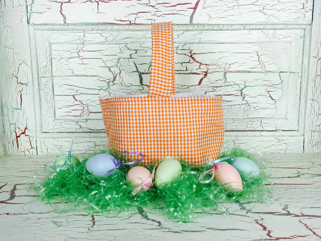Easter Basket Orange Gingham – Bizzy Bee Quilts
