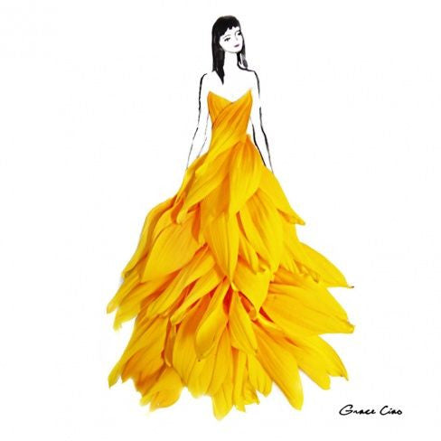 Fashion Illustrator Turns Flower Petals Into Gorgeous Dresses