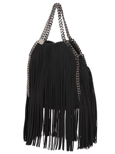 Lux Genuine Leather Fringe Chain Tote Bag - Belle Valoure - 3