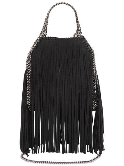 Lux Genuine Leather Fringe Chain Tote Bag - Belle Valoure - 5