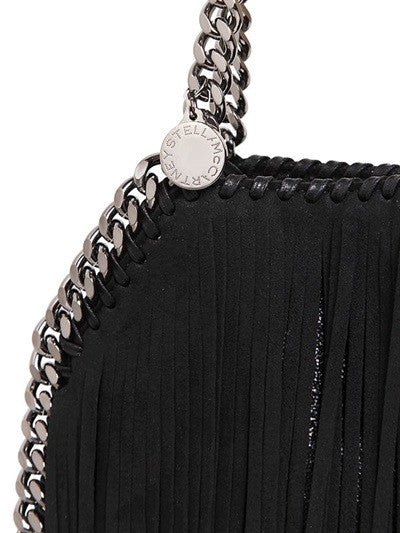 Lux Genuine Leather Fringe Chain Tote Bag - Belle Valoure - 6