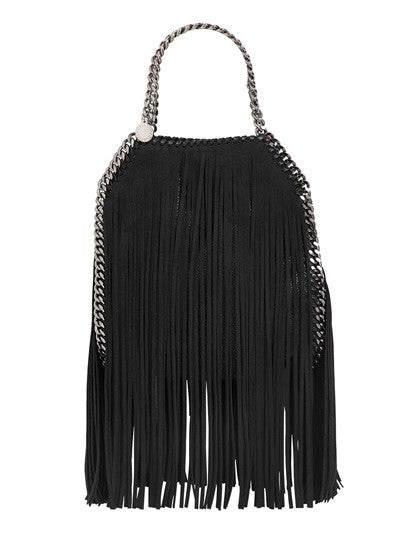 Lux Genuine Leather Fringe Chain Tote Bag - Belle Valoure - 2