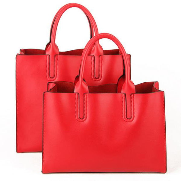 Genuine Leather Tote - Belle Valoure - 5