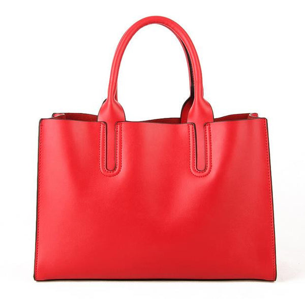 Genuine Leather Tote - Belle Valoure - 6