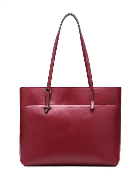Genuine Leather Tote - Belle Valoure - 4