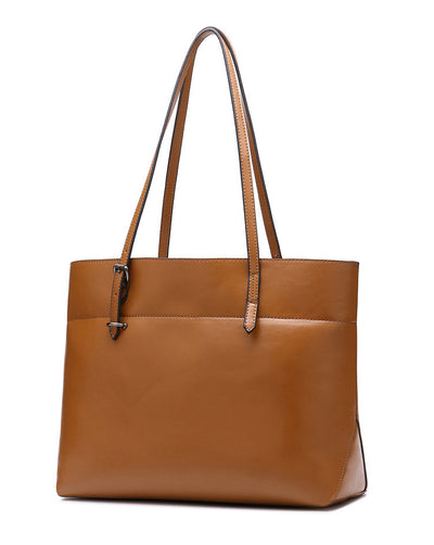 Genuine Leather Tote - Belle Valoure - 12