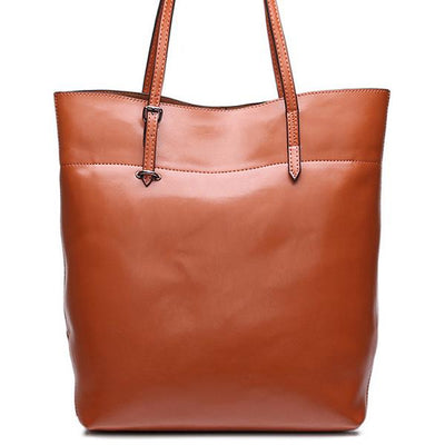 Genuine Leather Tote - Belle Valoure - 7